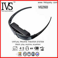 Wholesale low cost inch virtual screen digital goggles with av in for iphone4 ps3 and wii etc