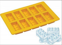 Wholesale Ice cake chocolate Jelly Mold Silicone Ice Cube Tray Brick Block