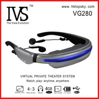 Wholesale 52inch head display video goggles G memory tf card up to G