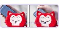 Wholesale 12PCS Ali THE FOX Cute Wrist BAG Pouch Phone Pouch CASE Bag NEW Plush Coin Bag Purse amp Wallet Case Pouch Change Holder BAG