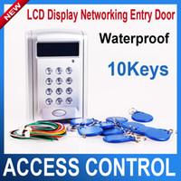 access display - LCD Display screen Networking Entry Door Access Control System Support online hardware controlling
