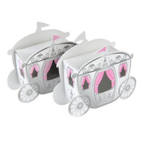 Wholesale 100pcs Enchanted Carriage Wedding Favor Boxes Fairy Tale Princess Baby Shower Birthday Party Favors