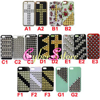 Wholesale 100pcs Studded Pyramid Metal Gold Silver Stud Studs Rivet leather Skin Handmade Hard Plastic Case Cover For iphone G