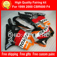 Custom race fairing kit for HONDA CBR 600 1999 00 CBR600 199...