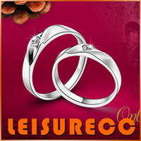 Wholesale Couple ring cupronickel water wave couple ring