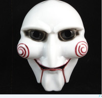 Wholesale Hot saleing Cosplay Saw Puppet Masquerade Horror Scary Mask Chainsaw Massacre Party