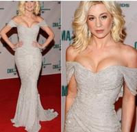 Venice Film Festival awards - Sexy Off Shoulder Red Carpet Kellie Pickler CMA Awards Zuhair Murad Mermaid Long Celebrity Dresses