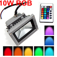 Wholesale 1000Lumen W V High Power Flash Landscape Lighting Waterproof IP65 RGB LED Wash Flood light Floodlight Outdoor Lamp