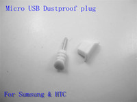 Wholesale Micro usb dustproof plug for Sumsung amp HTC mm jack tansparence black white anti dust up