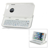 Wholesale White Removable Wireless Sliding out Bluetooth Keyboard Hardshell Case for Apple New iPhone