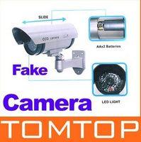 Wholesale Wireless Waterproof IR LED Surveillance Fake Dummy Camera freeshipping