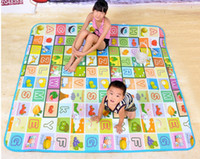 Plastic alphabet letters games - Kids Baby play mat Fruit letters of an alphabet Game pattern Family picnic carpet Toys