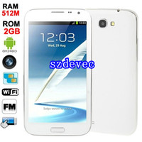 Wholesale 5 inch Note Note II III S3 N7100 MTK6515 GHZ android Smart Cell phone Dual sim Dual Camera MP Wifi free case