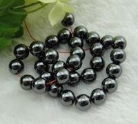 Wholesale Wholesales Black Hematite Round Loose Beads Fit Shamballa Bracelet mm Necklace handmade beaded necklaces