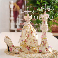 Other jewelry doll stand - Mannequin Jewelry Display Stand Set Pastoral Style Ring Jewelry Holder Earrings Necklace Organizer Long Dress Doll Valentine s Day Gift