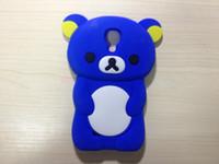 Wholesale 3D Rilakkuma Bear Silicone Soft Skin Case For Samsung Galaxy S4 i9500