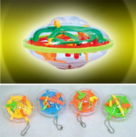 Wholesale 3D UFO Maze Pocket Mini Magic Ball With Keychain Education Toys Science Balls Children s Gift
