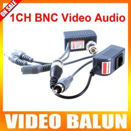 Wholesale 5Pairs CCTV Active UTP Video Audio Power Balun Transceiver Video Balun CCTV Accessories