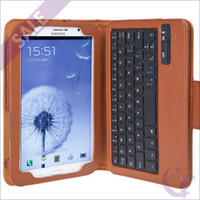 Wholesale Rechargeable Wireless Bluetooth Keyboard PU Leather Case Cover Protective Skin Shell Pouch Bag with Holder Kit for Samsung Galaxy Note