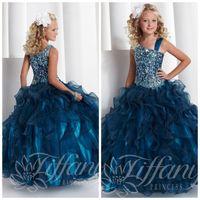 Peacock colour prom dress