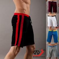 venda por atacado mesh fabric-Hot Men's Sports Shorts Meio Médio Longo Trunks Shorts QuickDry ginásio shorts troncos Sof Sweat Mesh tecido respirável 7062