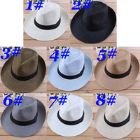 Wholesale Hot Selling Gentlemen Top Hats Men Cowboy Caps Fashion Men Beach Hats Men Summer Sun Caps Men Head Accessories Adult Men Headgear HC04