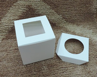 Wholesale Hot cm pvc window cake box with insert Party Cupcake Boxes
