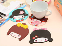 best coasters - 2013 new arrival best gift Cartoon Silica Gel Insulation Mat Placemat Coasters cup mat