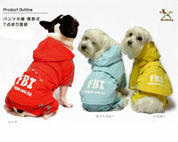 Free shipping New Beautiful FBI pet dog Raincoat apparel Hoo...