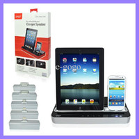 Wholesale IPEGA Charger Docking Station Stereo Speaker For iPad ipad mini Apple iPhone G G iTouch for Samsung S2 S3 S4