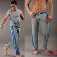 Wholesale Men s Long Home Sports Pants Casual Fitness Household with Waist Tie Pocket Quick Dry Sweat Mesh fabric Men Trousers Clothing Colors