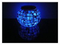Wholesale Cute Gift Chunk Glass Granite W LED White RGB Light Decoration Lamp