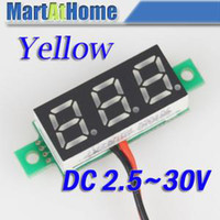 Wholesale Car Motocycle High precision Digital Voltmeter Volt Panel Meter DC V wires Yellow BV189 CF