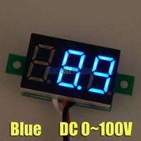 50PCS / серия Синий DC 0 ~ 100В 3 провода Цифровой вольтметр Вольт метр панели Сторно Защита # BV190 @SD
