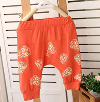 Wholesale Kids Casual Pants Children Clothing Boy And Girl Skull Printed Trousers Fashion Harem Pants Kids Casual Trousers Childrens Pants Casual Wear