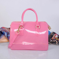 Wholesale 2013 summer fashion Fur la Candy bag women s Shoulder Tote Dual Function jelly bucket Bags purse handbags