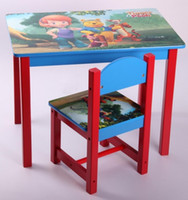 Wholesale Disney children s tables and chairs winnie the poohsystem wooden furniture one table one chairs size cm min order