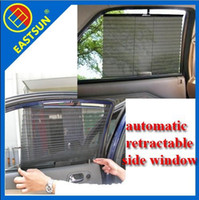 Wholesale EASTSUN Automatic Retractable Side Window Car Curtain Sun shading Curtain Stoopable Automatic Blinds