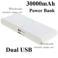 Dock Chargers Universal  Free Shipping 30000mAh Portable Universal Backup Dual USB Battery Power Bank External Battery Pack Charger For iPad iPhone Mobile Phone