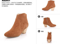 Ankle Boots Martin Boots Women leather short boots women's boots naked boots ShoeBootie Martin boots brown hot sales colour women boots big size 40 41 42 43