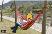 Wholesale Family camping outdoor sports leisure Two persons rope CAPE COD Cotton Canvas Mesh canvas Color hammock