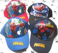 Wholesale 50 Batman Spider man Ben Pixar car all cartoon figure Cotton Children Cartoon Cap Kid hat