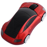 1600 car shape wireless mouse - Optical Wireless Mouse GHz D Optical Car Shape Wireless Mouse for Laptop PC Red Color