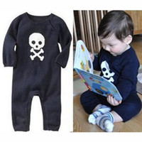 Wholesale Autumn Baby rompers human skeleton pure cotton infant bodysuits punk cartoon baby One Piece