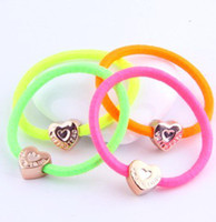 Wholesale Cheap Korea Style fashion New Candy Color Rope Elastic Girl s Hair Ties Bands Headband