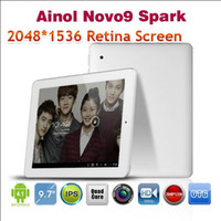 Wholesale Ainol Novo9 Spark FireWire Android Tablet PC quot Retina Screen A31 Quad Core GB RAM GB Camera HDMI
