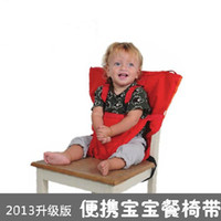 Wholesale Free shippin EMS NEW kiskise Baby Eat chair Seat belt sack n seat Portable Baby Dining Chairs belts colors orangecompany