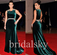 Cheap Reference Images Kim Kardashian Dress Best Bateau Elastic Satin Evening Gowns