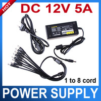 PS12V-5A-8 100~120V AC, 200~240V AC 12V DC 12V 5A 8 Port CCTV Camera AC Adapter Power Supply Box For the camera
