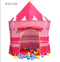 Wholesale Prince and Princess Palace Castle Playing Indoor amp Outdoor Toy Tent blue and pink colors mixed